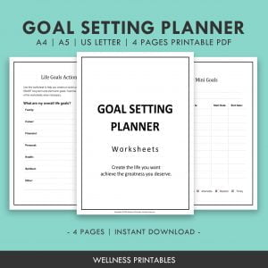 goal setting planner printable
