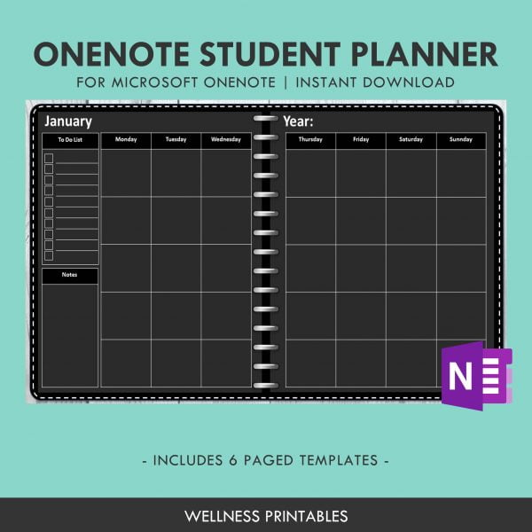 OneNote Template Student Planner