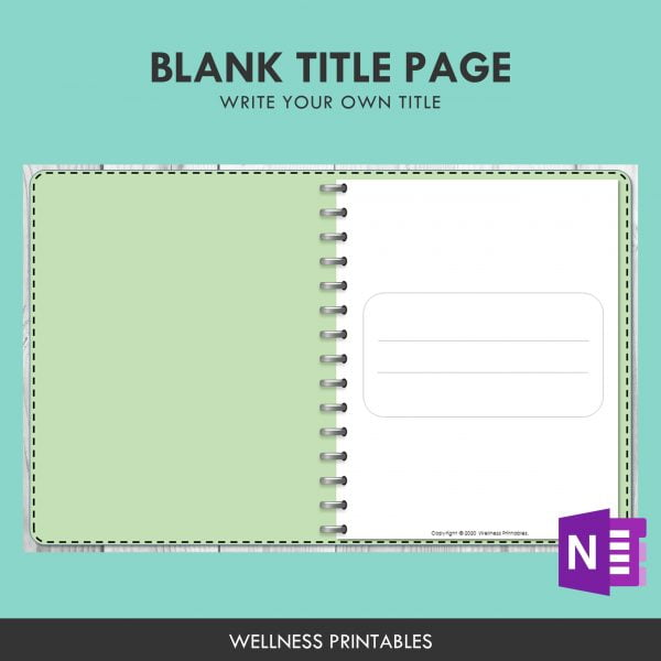 onenote title page template mood tracker
