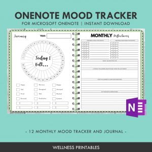 OneNote Template Mood Tracker Planner