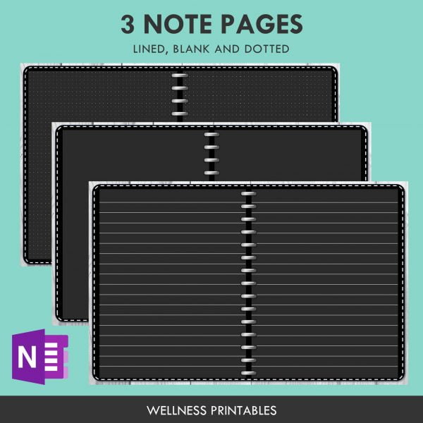 OneNote note pages template