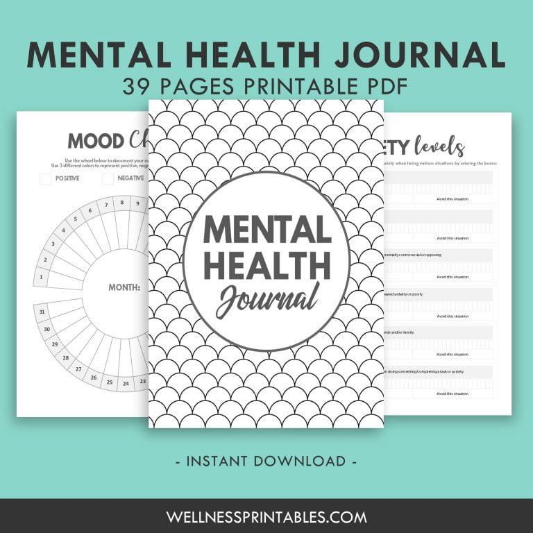 Mental Health Journal Printable