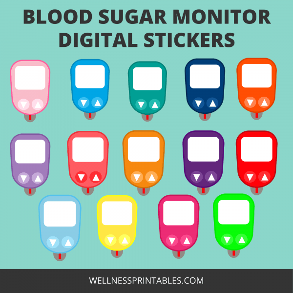 Glucose Meter Stickers blood sugar-monitor stickers printable