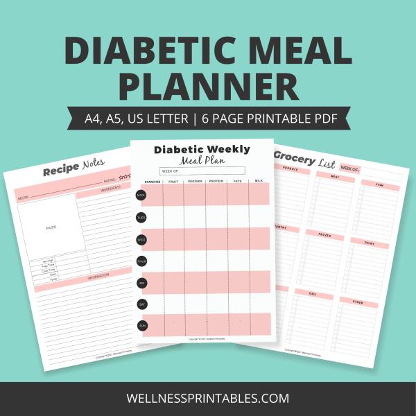 diabetic meal planner printable