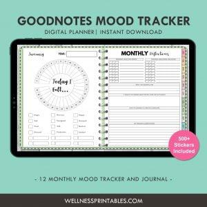 Mood Tracker Undated Digital Planner