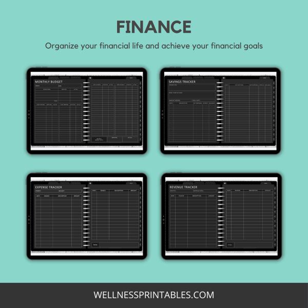 Undated digital planner finance planners